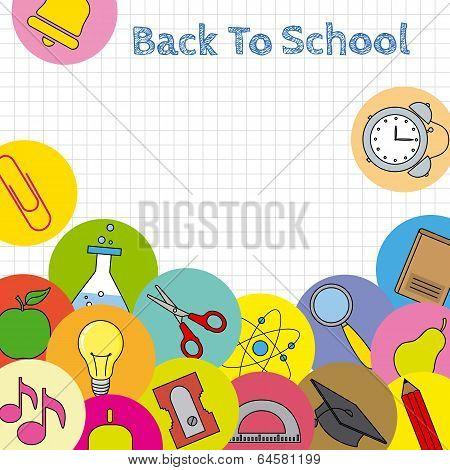school icons card