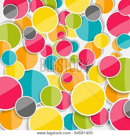 Abstract Glossy Circle Background Vector Illustration