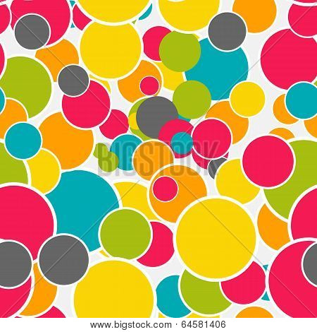 Abstract Glossy Circle Seamless Pattern Background Vector Illust