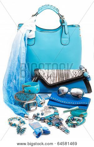 aquamarine fashion accessories