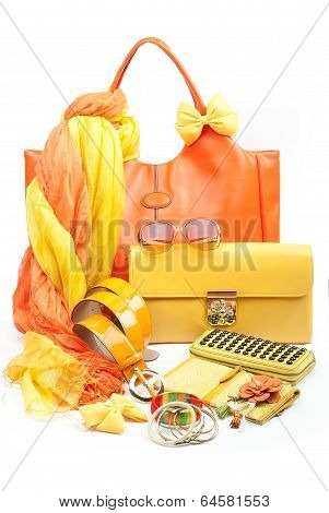 yellow fashion accessories