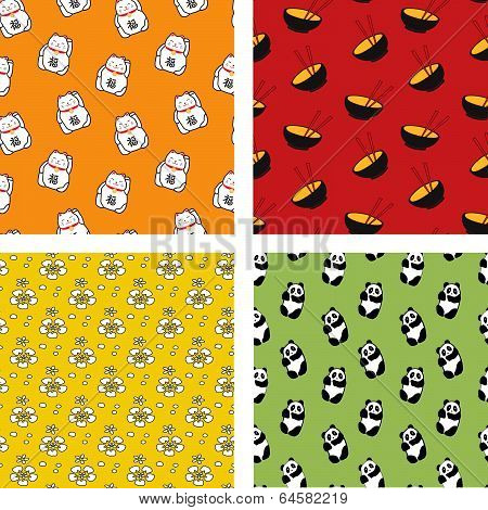Seamless Japanese patterns