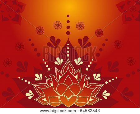 Henna lotus