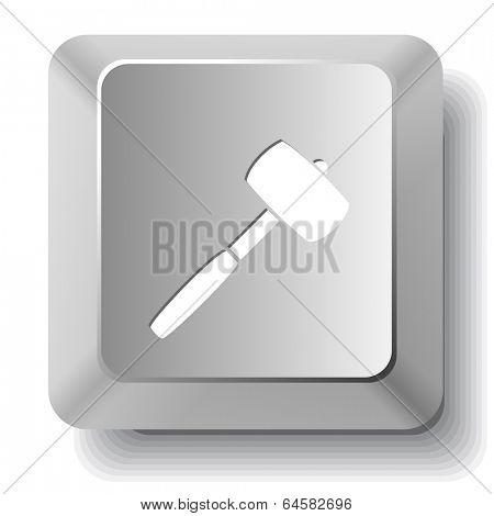 Mallet. Vector computer key.