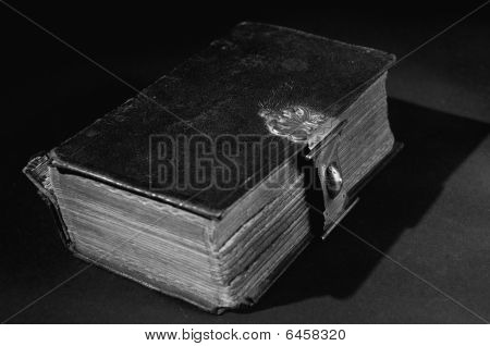 Old Bible On Black - Bw