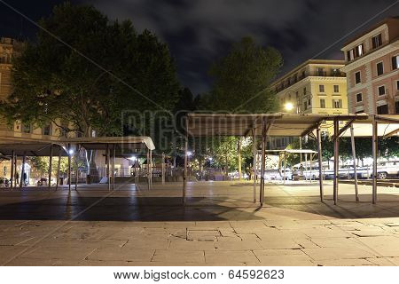 Piazza San Cosimato, Rome, Italy