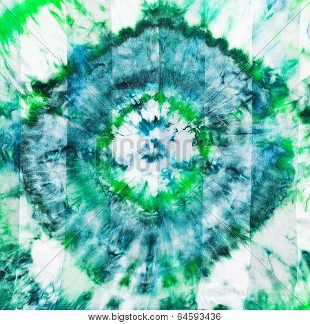 Batik - Abstract Green Diamond Pattern On Silk