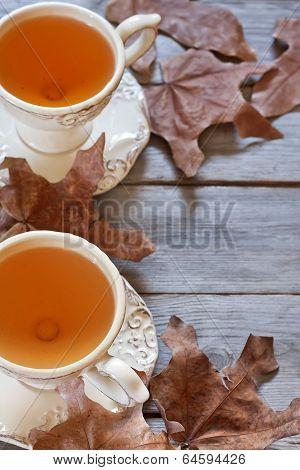 Autumn Tea Background