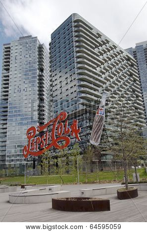 Landmark Pepsi Cola sign in Long Island City