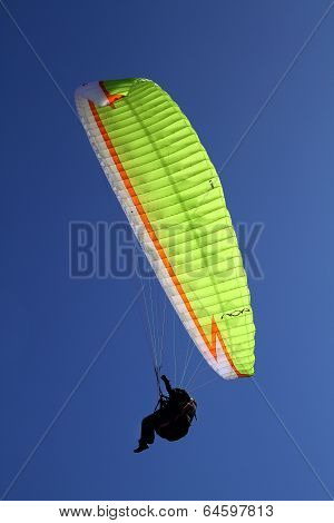 Paraglider in action.