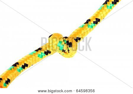 rope with a knot isolated over white background