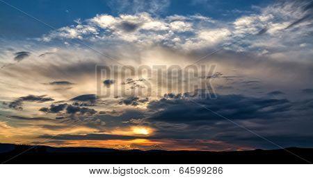 Dark Storm Clouds Over Grasslands