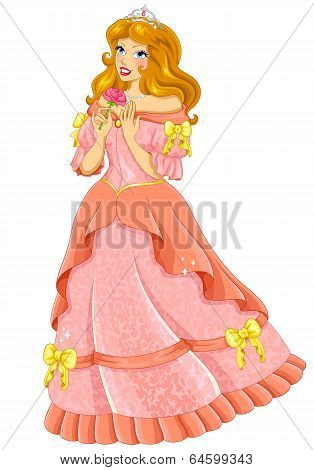 princess in pink dress
