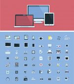 pic of hardware  - Computer hardware icon set - JPG