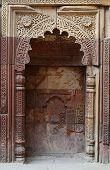 stock photo of qutub minar  - Mihrab in Qutub Minar complex in Delhi - JPG