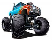 picture of muscle-car  - Cartoon Monster Truck - JPG