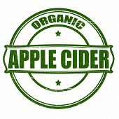 stock photo of cider apples  - Stamp with text apple cider insidevector illustration - JPG