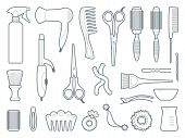 pic of hairspray  - Tools and materials for a hairstyle and colouring of hair - JPG