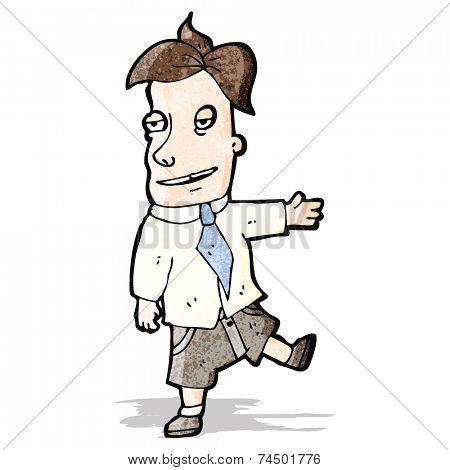 cartoon smarmy salesman