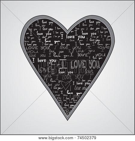 Happy Valentines Day Love Card Design.