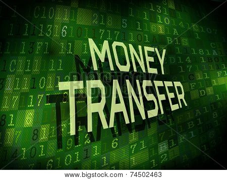 Money Transfer Words Isolated On Digital Background