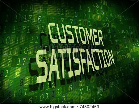Customer Satisfaction Words Isolated On Digital Background
