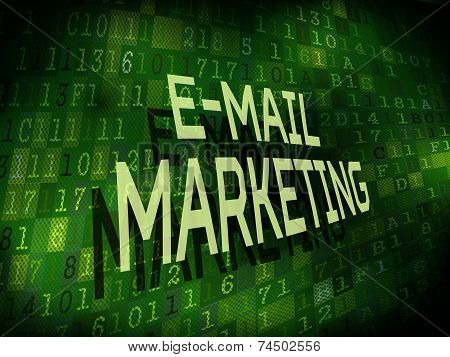 E-mail Marketing Words Isolated On Digital Background