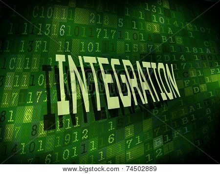 Integration Word Isolated On Digital Background