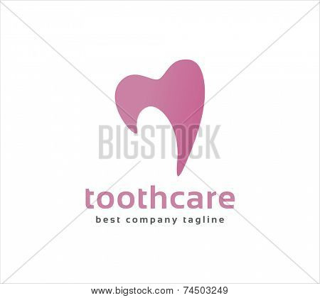 Abstract vector dental tooth logo icon concept. Logotype template for branding and corporate design