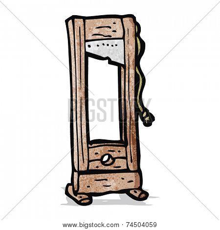 cartoon guillotine