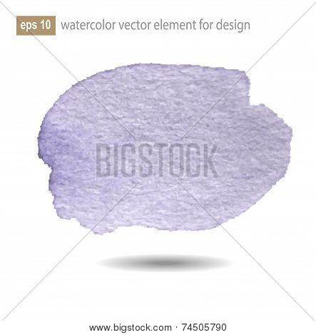 Abstract Watercolor Art Paint On White Background.