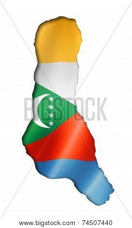 Comorian Flag Map