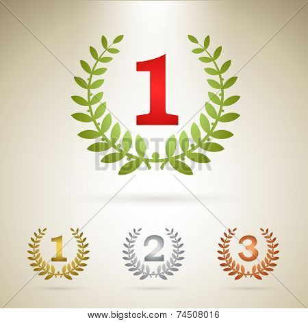 First place emblem