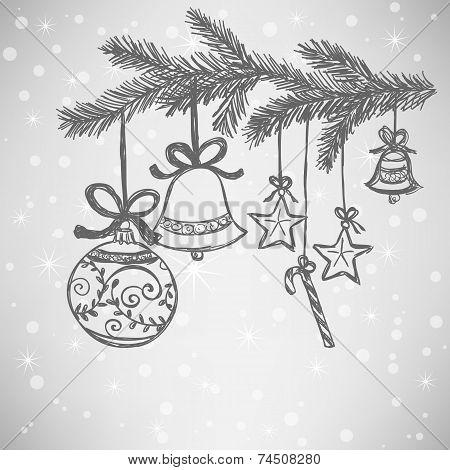 Christmas Balls Doodle