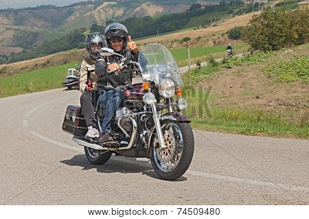 Riders On A Moto Guzzi California Classic