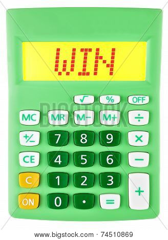 Calculator With Win On Display On White