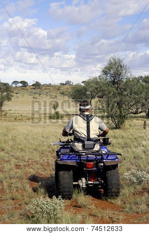 Gold Miner In The Australian Outback Starting Quad