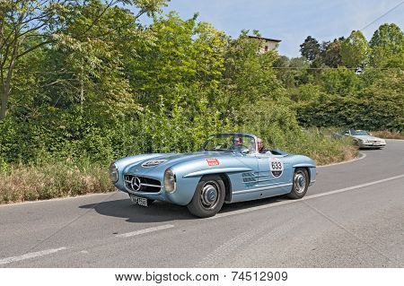 Vintage Car Mercedes Benz (1955) In Mille Miglia 2014
