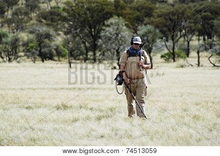 Gold Miner In The Australian Outback
