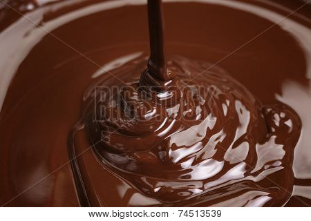 Melted Dark Chocolate Flow