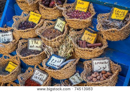 Herbs And Spices On Market,tunis