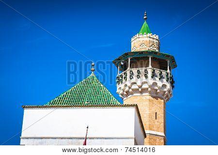 Minaret In Tunis Medina