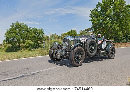 Classic Car Bentley 4.5 Litre S.c. In Mille Miglia 2014