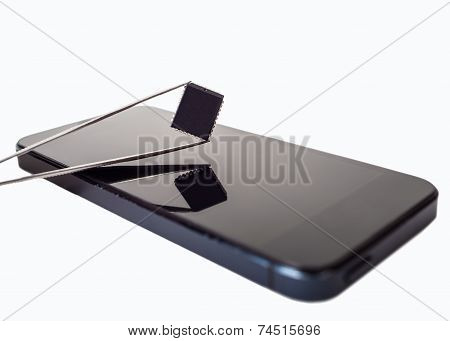 Tweezers With Detail And Phone
