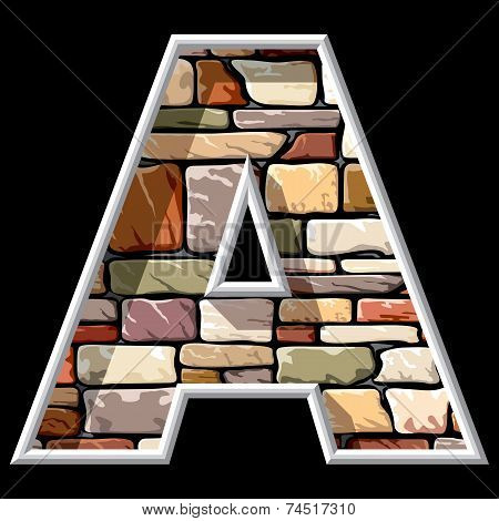 Stone Letter A