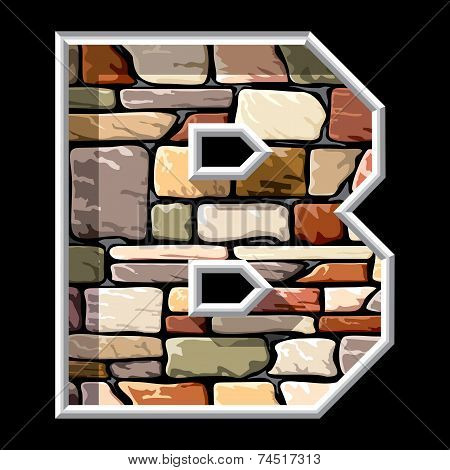 Stone Letter B