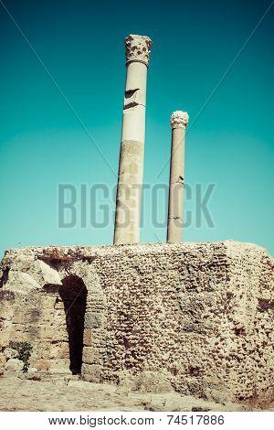 Ruins Of Antonine Baths At Carthage, Tunisia