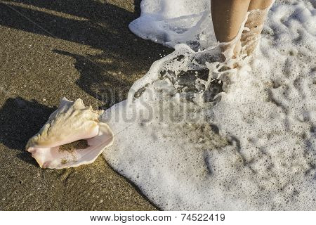 Foots In The See Waves