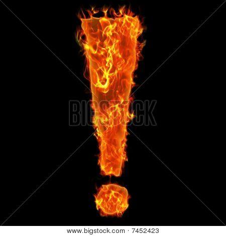 Burning exclamation mark