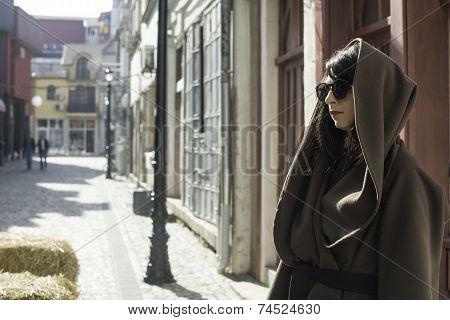Girl In Brown Wool Jacket